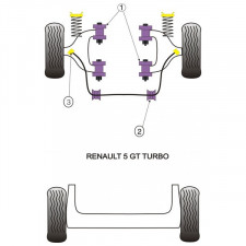 Silent-Bloc Powerflex Barre Anti-Roulis Renault R5 GT Turbo (2 Pièces)