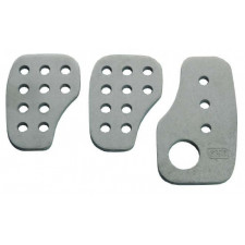 OMP Steel Silver 3 Pedals Kit