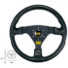 OMP Racing GP SKY Black Steering Wheel Black Anodized Spokes