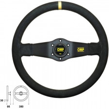OMP Rally Black Steering Wheel Suede 350 mm