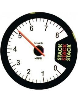 Stack Clubman Rev-counter 0-8 Diameter 80 White