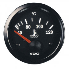 VDO Cockpit International 120° Water Temperature Gauge Diameter 52 Black Background