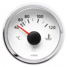 Manomètre VDO Température Eau Viewline 40-120°C Diamètre 52 Fond Blanc