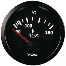 VDO Gauge Oil Temperature 150° Vision Diameter 52 Black Background
