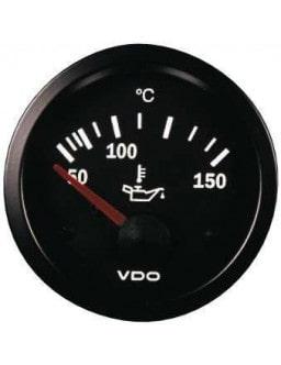 VDO Gauge Oil Temperature 150° Vision Diameter 52 Black Background