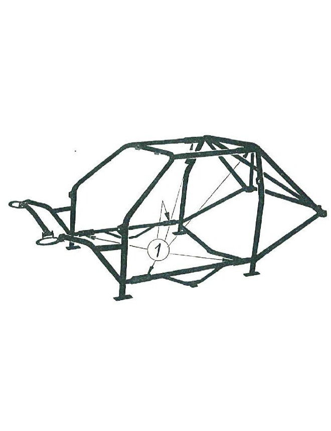 Structure Multipoints Arceau OMP Volkswagen Golf 2 GTI 17 Points