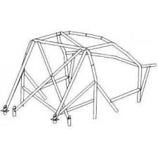 OMP Rollcage Multipoints Structure Citroën Saxo 3 doors After 1996 16 Points