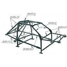 Structure Multipoints Arceau OMP Ford Escort Cosworth