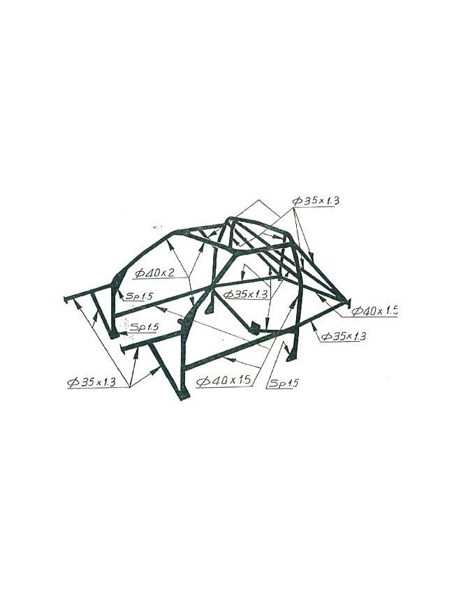 Structure Multipoints Arceau OMP Opel Astra GSI Souder