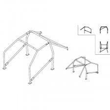 Sparco Roll Cage Nissan 240 Sx 1989-1994 Fe45