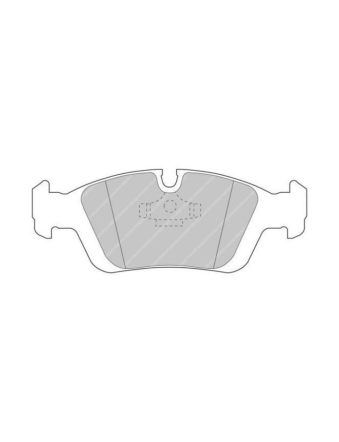 Ferodo DS 3000 brake pads front for BMW 3 Series 316i 09.90 - 12.98 caliper ATE