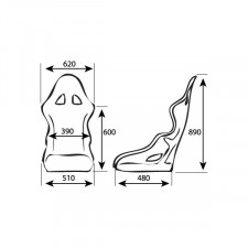 GT2i Race-L Bucket Seat in Fiber FIA By OMP (12-31-2023)