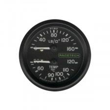Oil Pressure 100 PSI / Oil Temperature 110°C 2.13m Racetech Gage Lighted