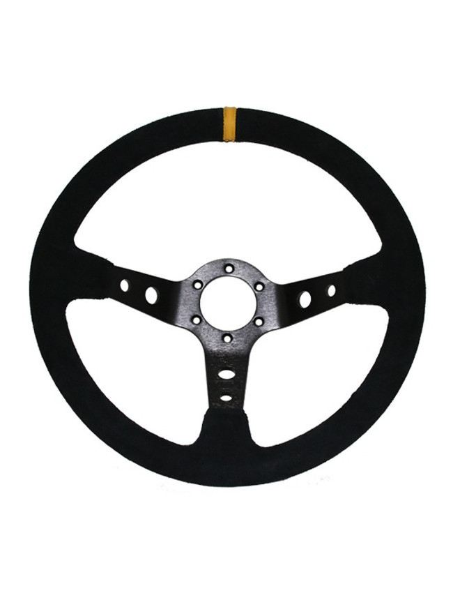 GT2i Race 90 Black Suede Steering Wheel / Black Spoke