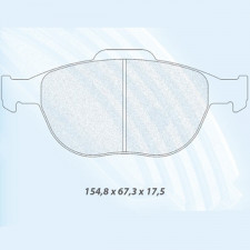 Carbone Lorraine RC8 Front Brake Pads Ford Fiesta st 150