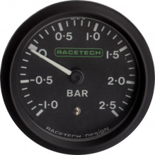 Pressione Turbo -1 / +2.5 Bar Nero Racetech