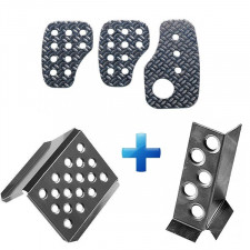 Pack Pedals + Footrest in Alu