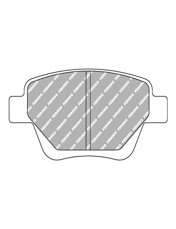 plaquettes de frein ferodo arri re volkswagen golf 6 gt2i. Black Bedroom Furniture Sets. Home Design Ideas