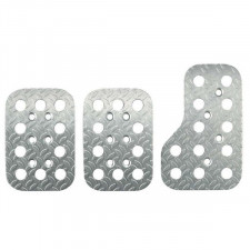 Kit of 3 Sparco Pedals in Knurled Alu