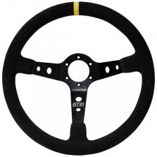 Cévennes Leather Steering Wheel Black/Black 75mm