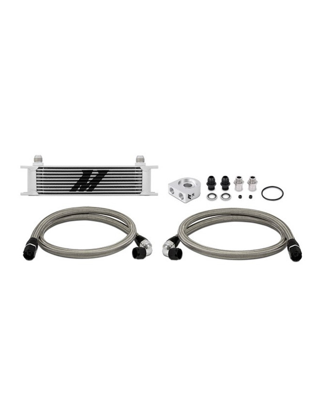 Mishimoto Universal Oil Cooler 10-row Grey Not Thermostatic