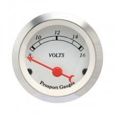 Prosport Classic Voltmeter Gage 52mm 8-16 Volts