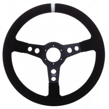 GT2i PRO Suede Steering Wheel Black/Black 70mm