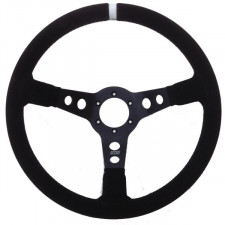 GT2i PRO Suede Steering Wheel Black/Black 90mm