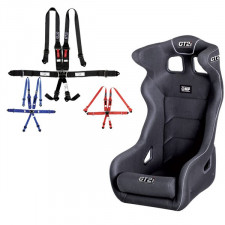 "GT2i Pro FIA Bucket Seat + GT2i Race Harness 6 pts 2""/3"" HANS Pack"