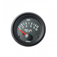 VDO Oil Pressure Gage 10 Bars 12V 52mm Inner Diameter
