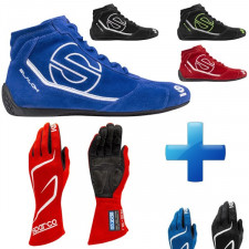 SPARCO Pack with Land RG-3 Gloves + RB-3 Boots