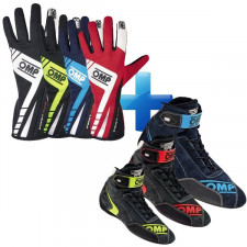 Pack OMP FIA FIRST EVO Gants + Bottines