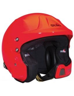 Stilo WRC DES Orange Helmet Hans and  Intercom SA15