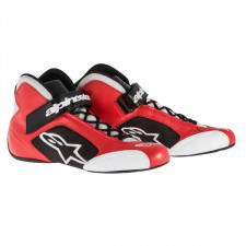Bottines Alpinestars Tech1-K Rouge/Argent Pointure 42