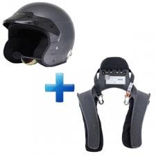 Pilote Pro Intercom Helmet + Hans Club Series 20° Size L-XL Pack