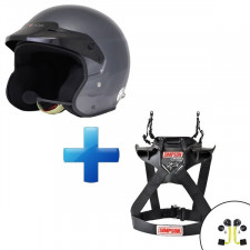 Pack casque Pilote Pro Intercom + Simpson Hybrid Sport