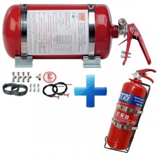 Pack Kit OMP Automatic Fire extinguisher 4.25l + GT2i Powder Fire extinguisher 2kg