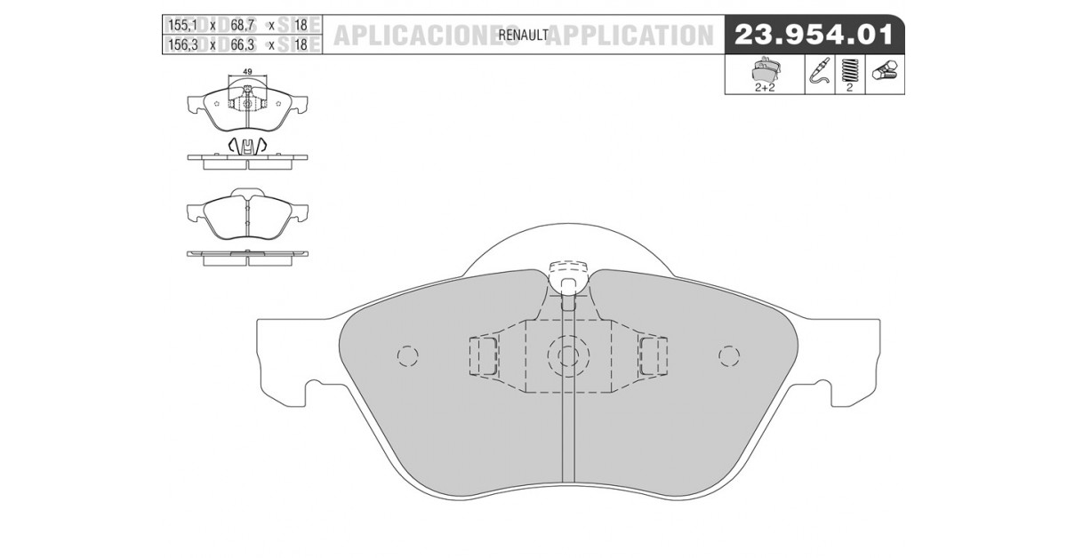 FRONT BRKE DISCS AND PADS FOR RENAULT OEM QUALITY 8071204