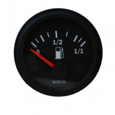 VDO Vision Fuel Level Gage Lever  Diameter 52 Black Background