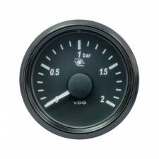 VDO SingleViu™ 0-2Bars Turbo Pressure Gage Diameter 52 Black Background