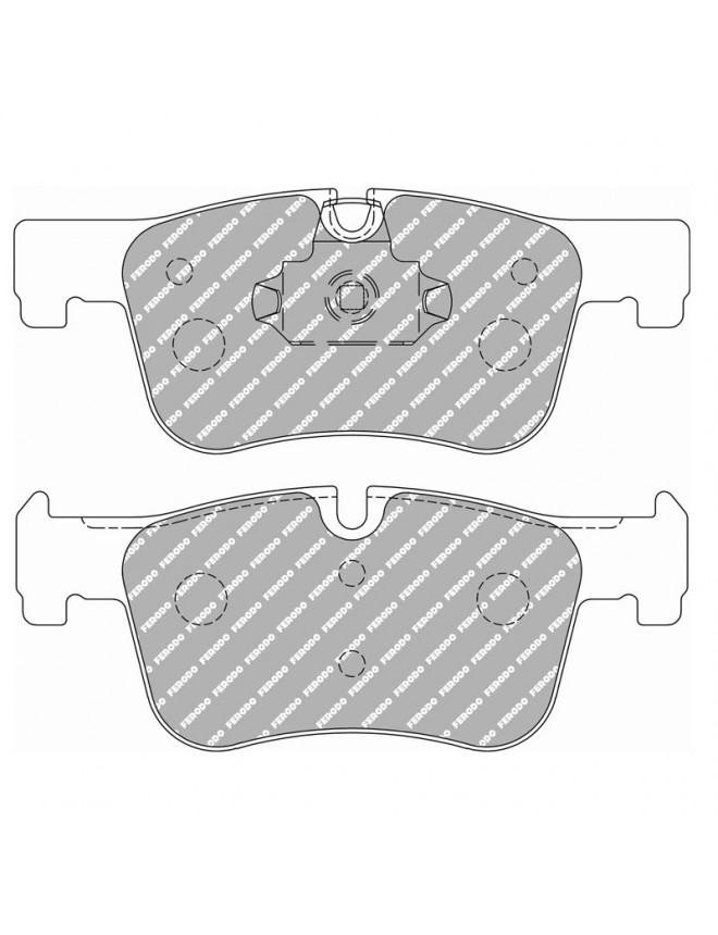 Ferodo DS 2500 brake pads front for BMW 1 Series 114 d 10.12 -  caliper ATE