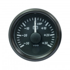 VDO SingleViu Ammeter Diameter 52mm Black Background -30A/+30A