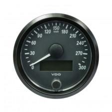 VDO SingleViu Speedometer Diameter 80mm Black Background 300KM/H