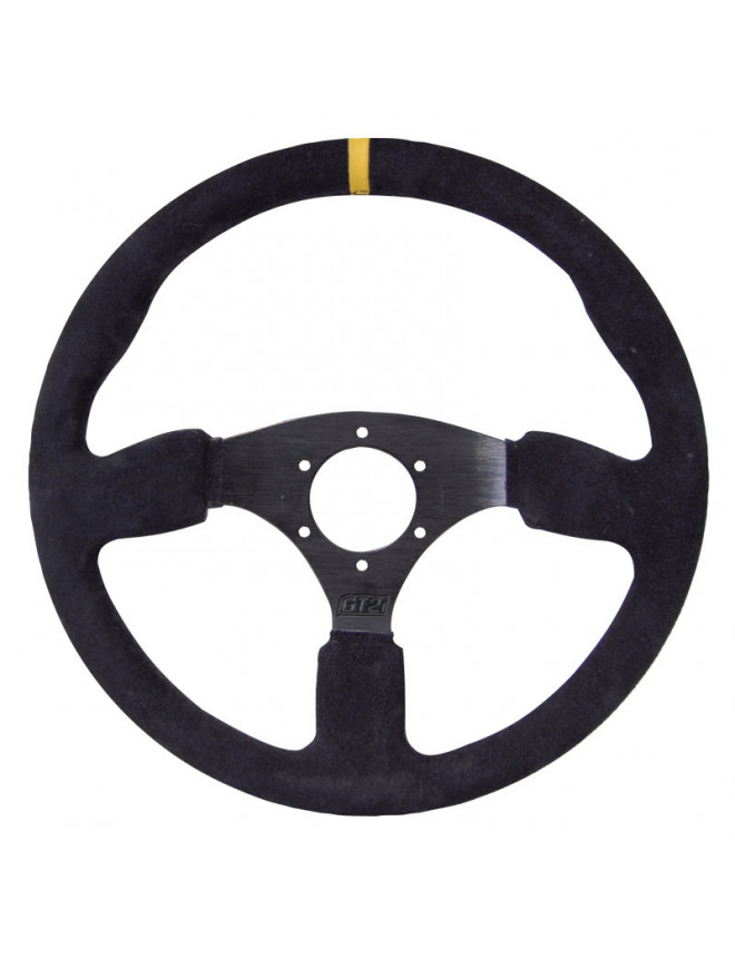 GT2i Race Black Steering Wheel / Flat Black Spoke