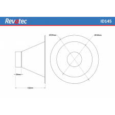 Revotec Round Air Intake Duct Diameter 145mm