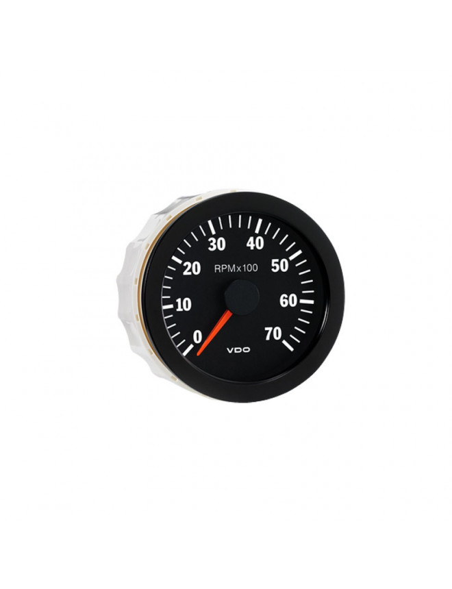 VDO Rev-counter 7000 RPM Diameter 80 Black Background 4 / 6 / 8 Cylinders Diesel / Fuel