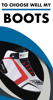 Choose well your karting boots thanks to our size chart and approvals
