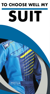 Choose well your karting suit thanks to our size chart and approvals