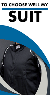 Choose well your Mechanic suit thanks to our size chart and approvals